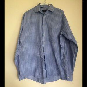 Blue & White Striped Tommy Hilfiger Shirt